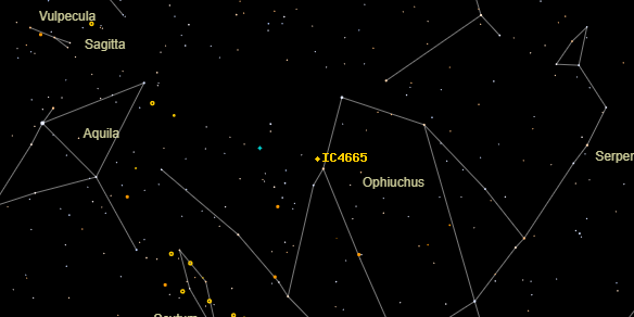 IC4665 on the sky map