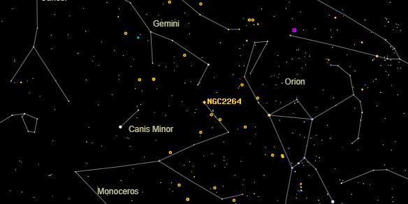 NGC2264 on the sky map