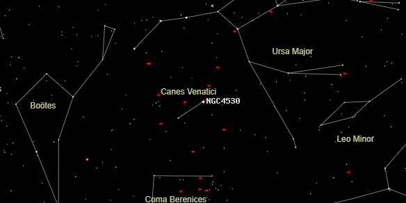 NGC4530 on the sky map
