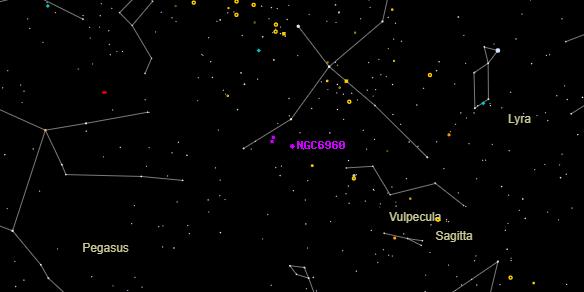 NGC6960 on the sky map