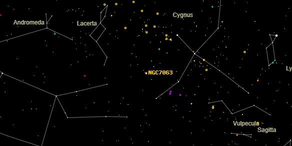 NGC7063 on the sky map
